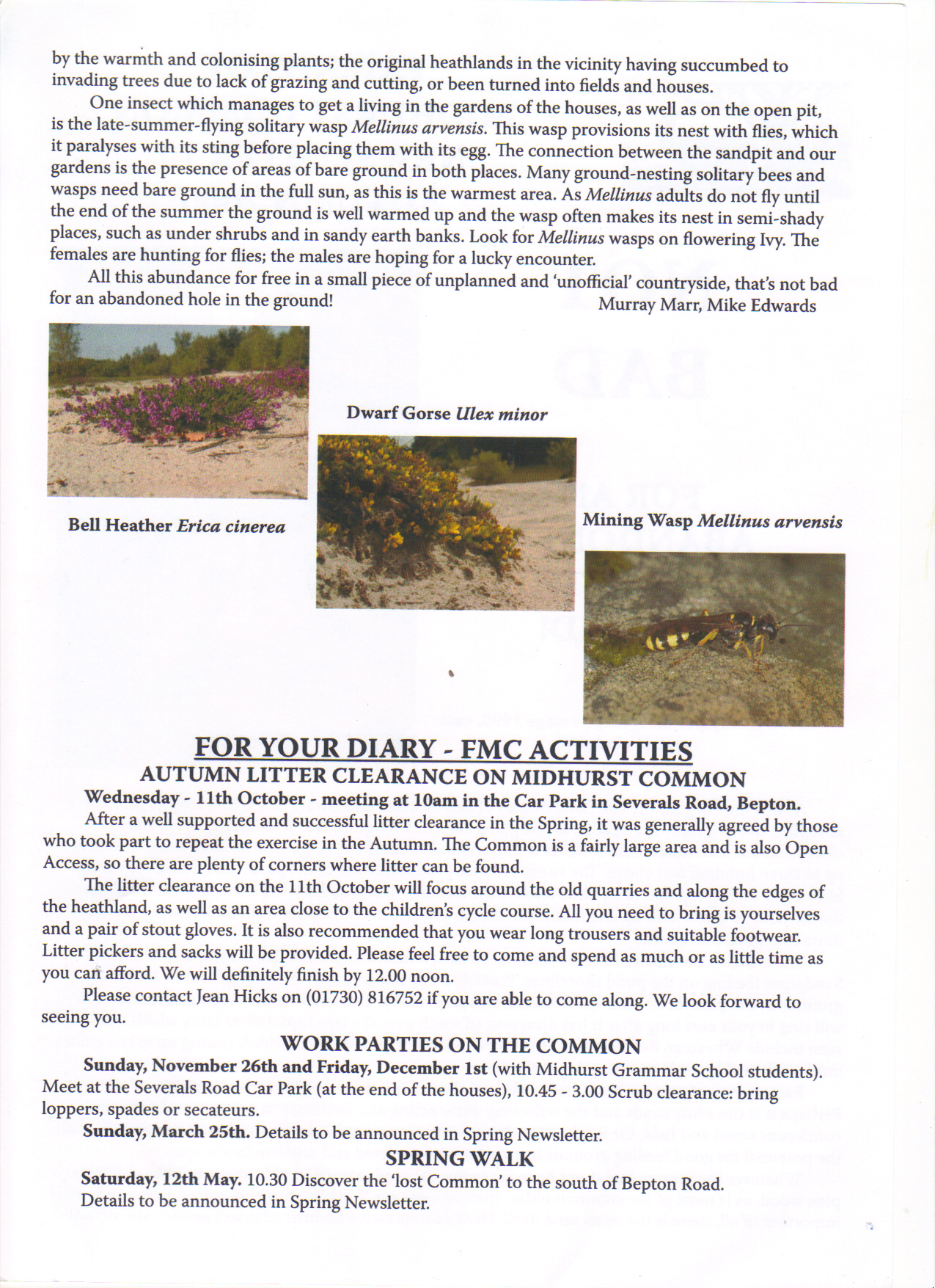 Newsletter no 10 part 2 of 2 Autumn 2006