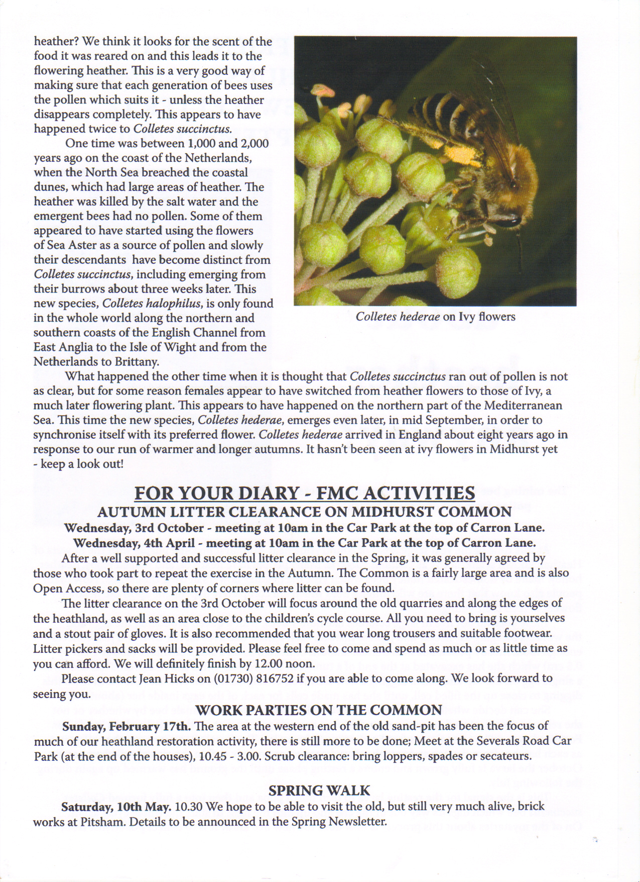 Newsletter no 12 part 2 of 2 September 2007