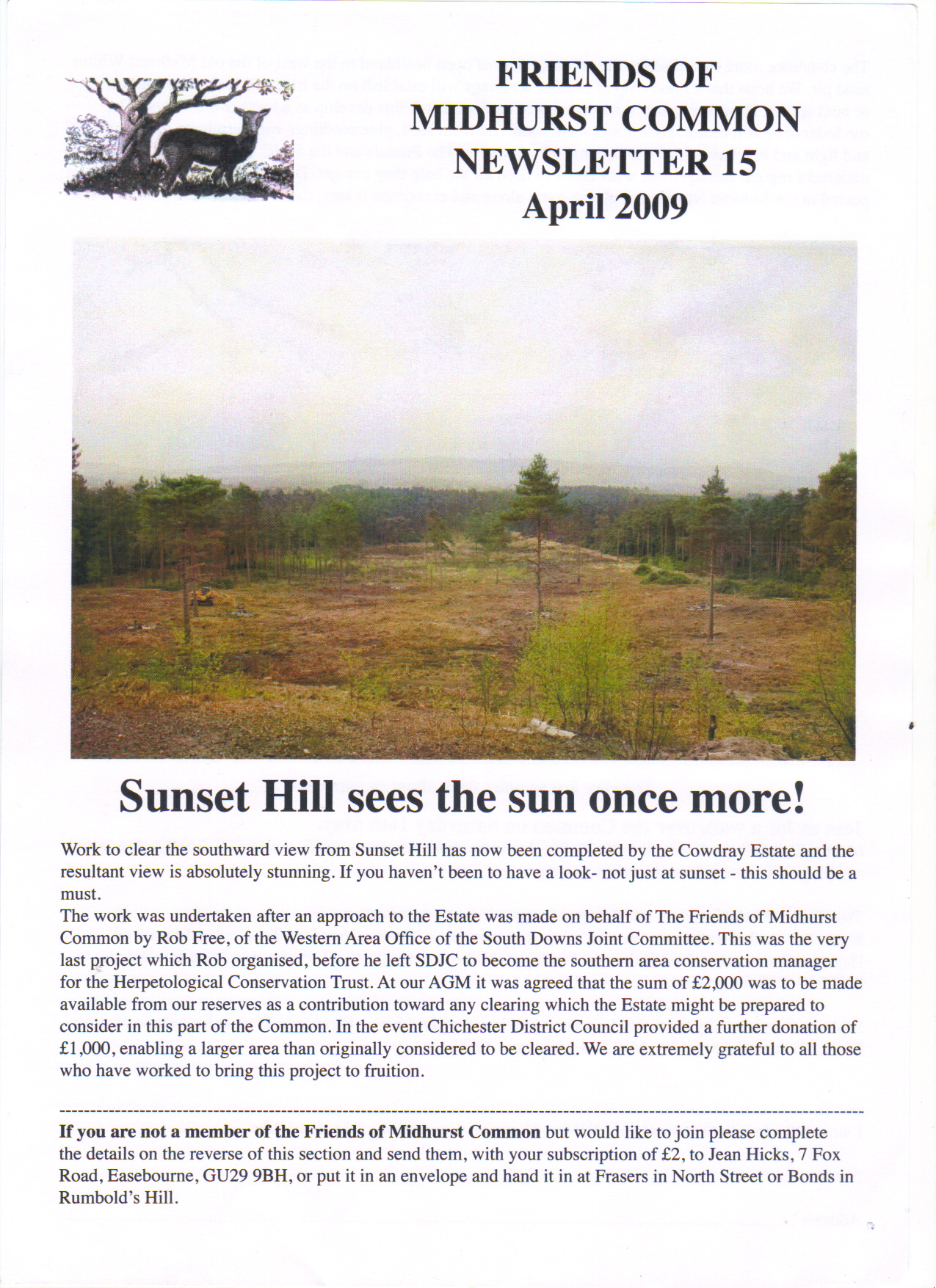 Sunset hill sees the sun once more