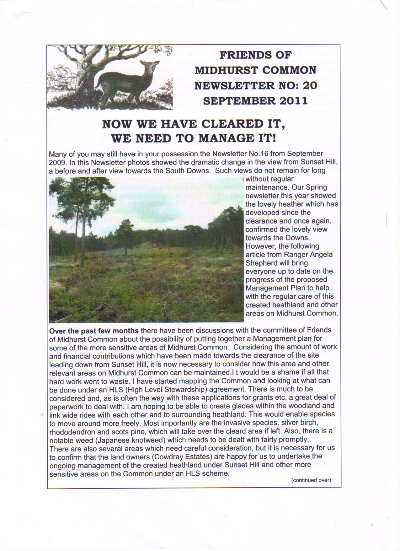 Newsletter no 20 part 1 of 2 September 2011